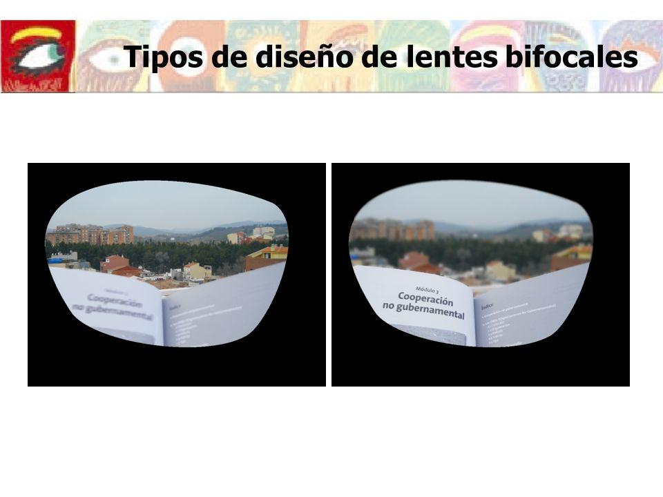 Tipos de diseño de lentes bifocales