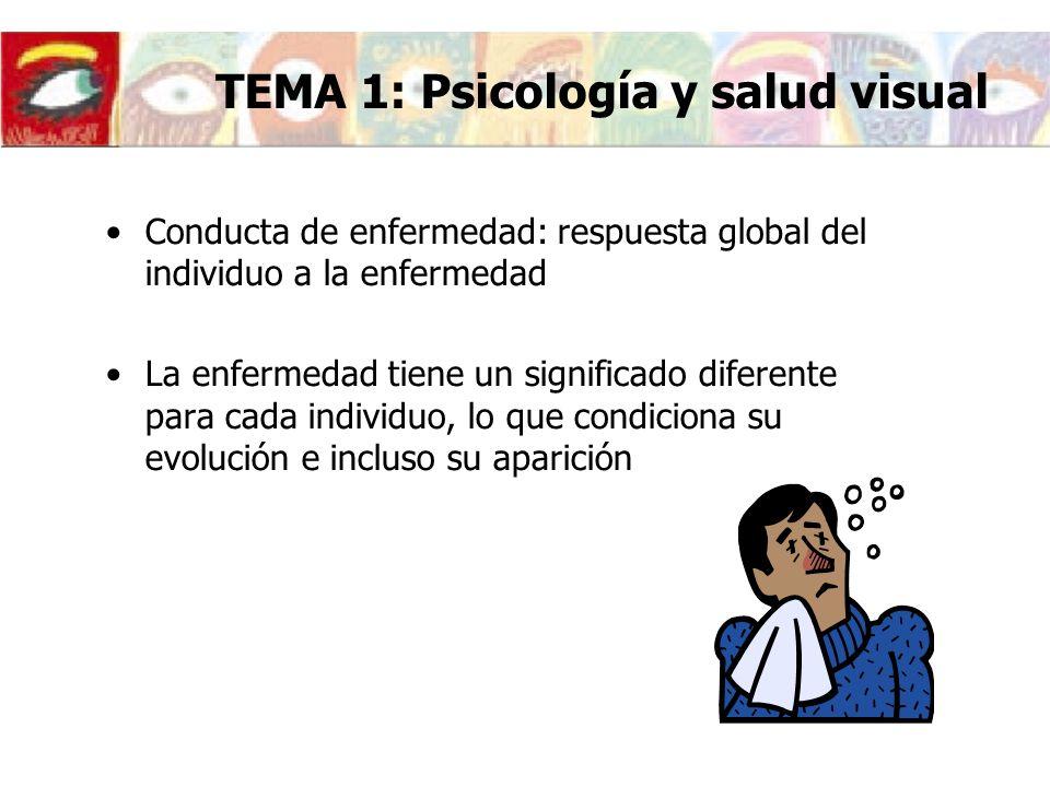 Conducta de enfermedad: respuesta global del individuo a la enfermedad La enfermedad tiene un significado diferente para cada individuo, lo que condic