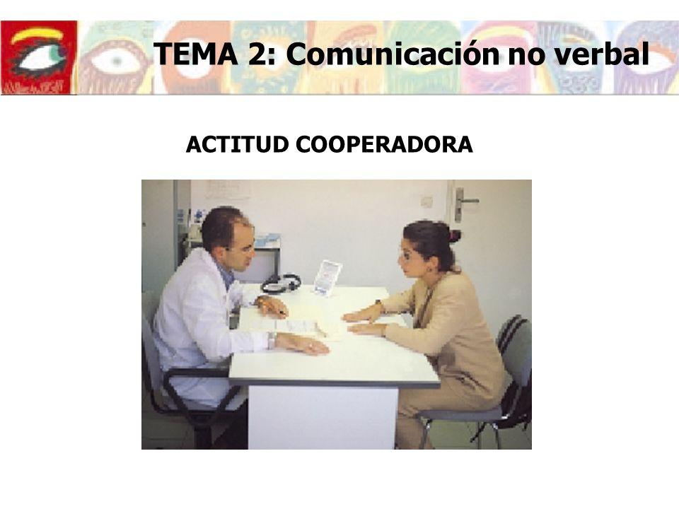 ACTITUD COOPERADORA TEMA 2: Comunicación no verbal