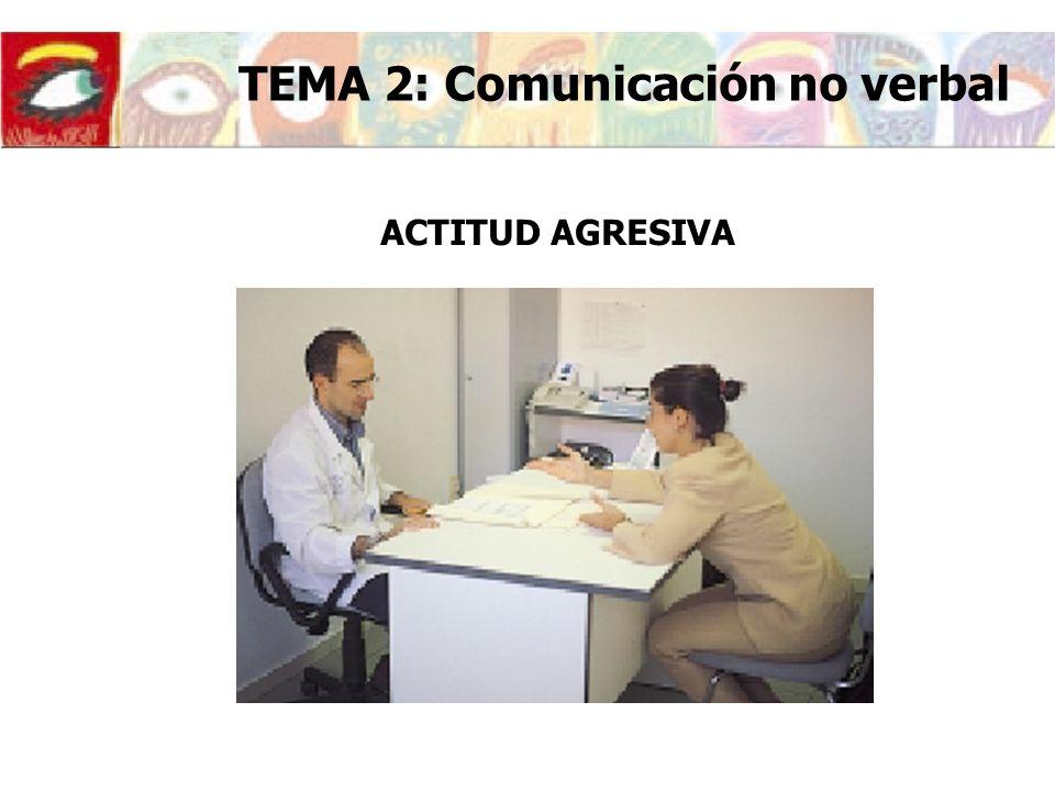 ACTITUD AGRESIVA TEMA 2: Comunicación no verbal
