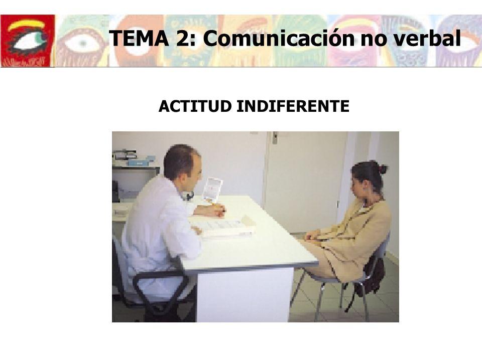 ACTITUD INDIFERENTE TEMA 2: Comunicación no verbal