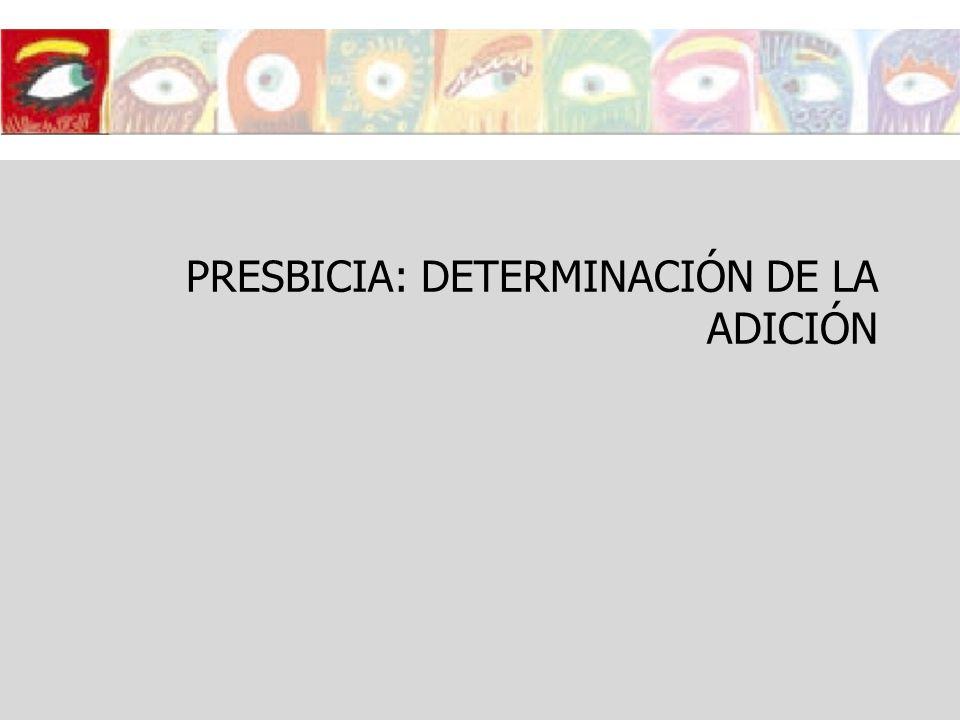PRESBICIA: DETERMINACIÓN DE LA ADICIÓN
