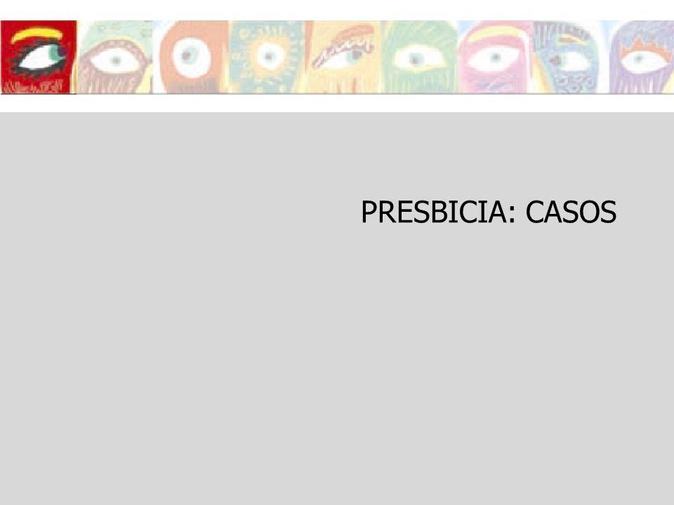 PRESBICIA: CASOS