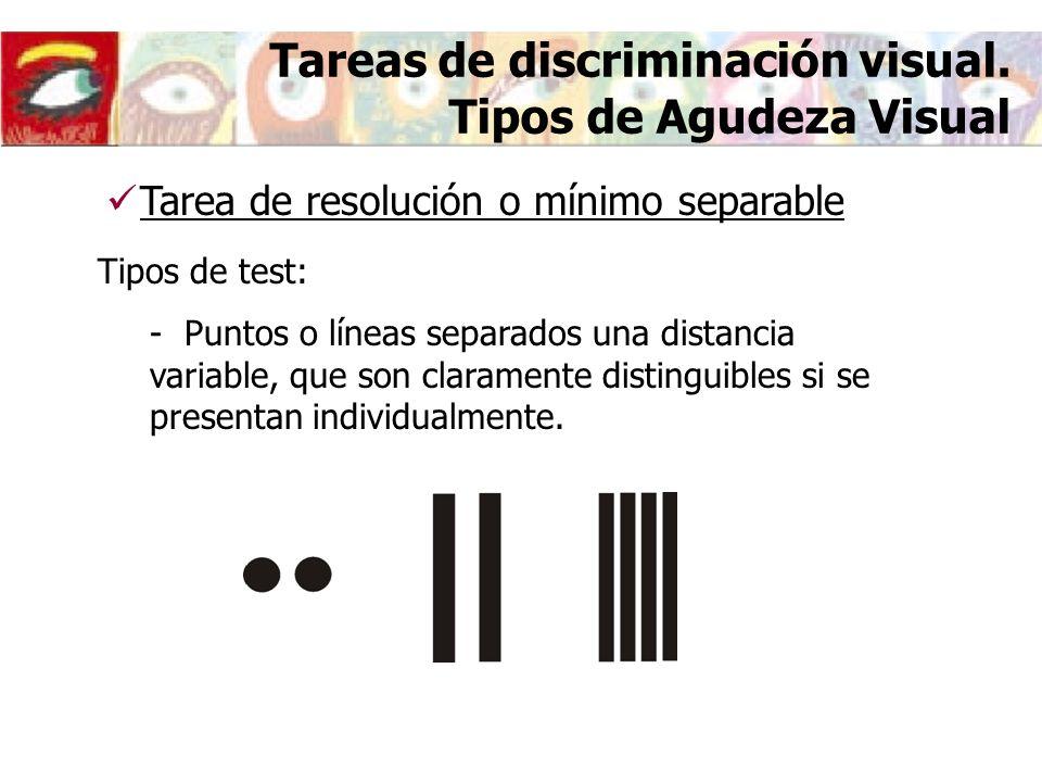 Tareas de discriminación visual.