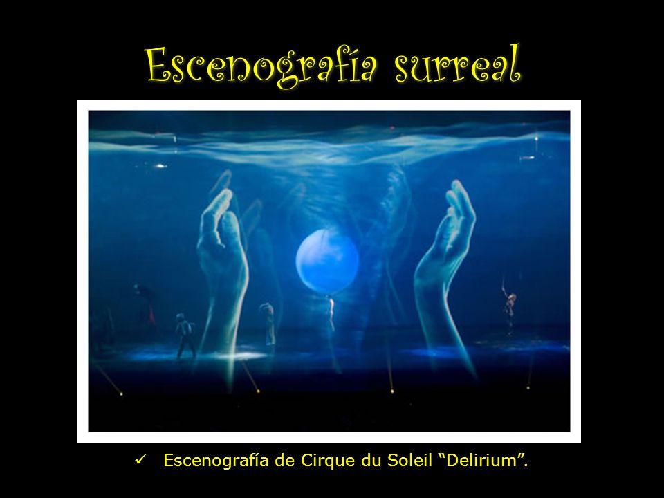 Escenografía surreal Escenografía de Cirque du Soleil Delirium.