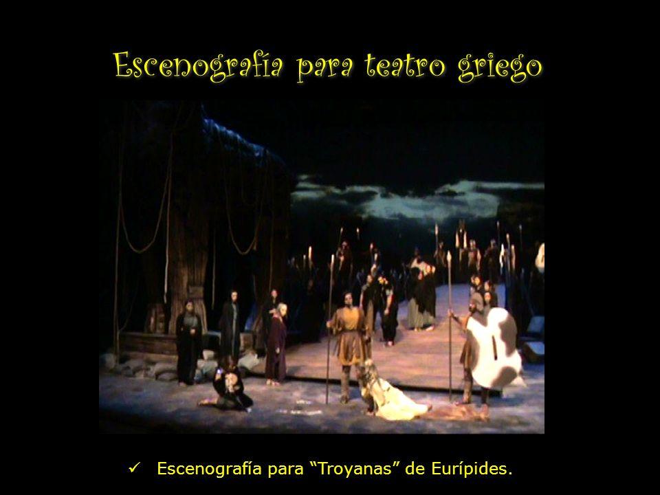 Escenografía para teatro griego Escenografía para Troyanas de Eurípides.