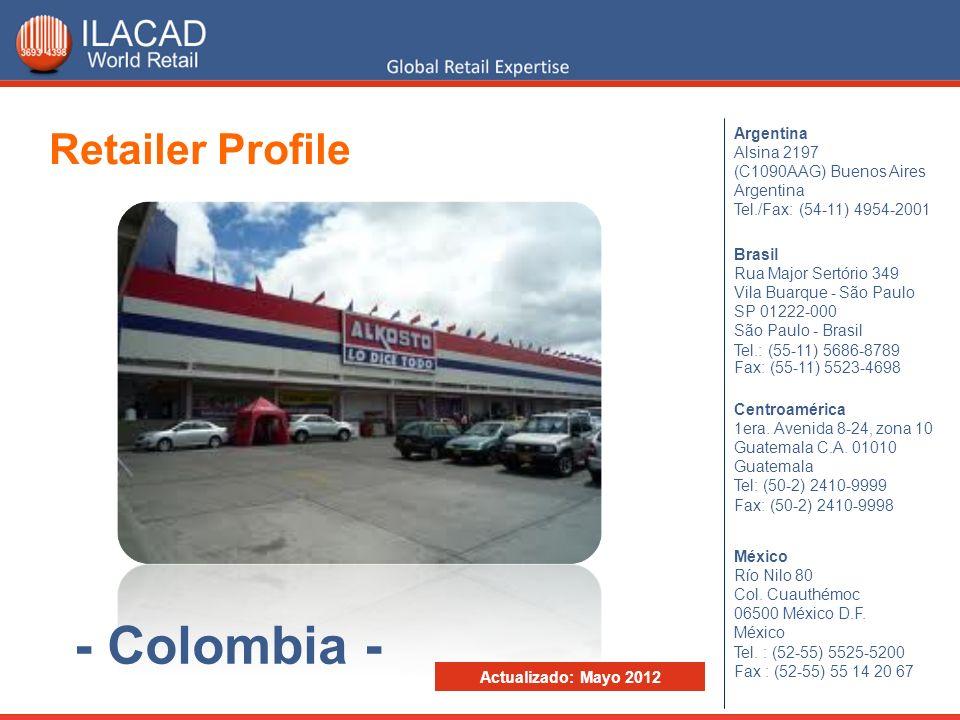 Durante el 2011 Alkosto facturó aproximadamente Col$ 2.261.807 millones, lo que representó un incremento de 9,8% en relación al 2010, y lo mantuvo en el cuarto puesto dentro del Ranking del Retail Alimenticio de Colombia 2012.