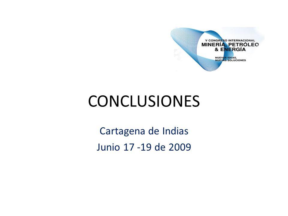 CONCLUSIONES Cartagena de Indias Junio 17 -19 de 2009