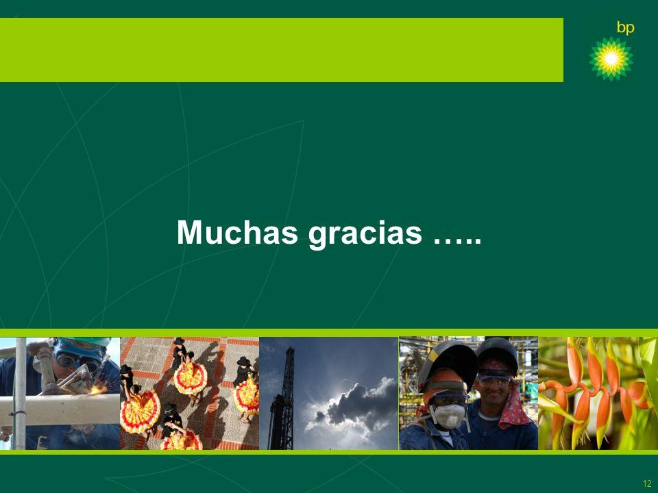 12 Muchas gracias …..