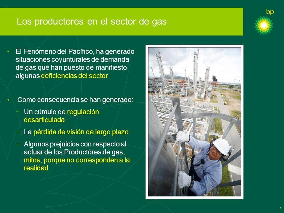 3 Los productores en el sector de gas El Fenómeno del Pacífico, ha generado situaciones coyunturales de demanda de gas que han puesto de manifiesto al