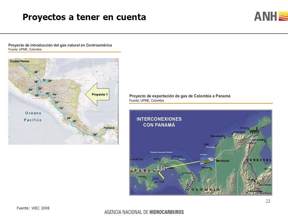 Proyectos a tener en cuenta 23 Fuente: WEC 2008
