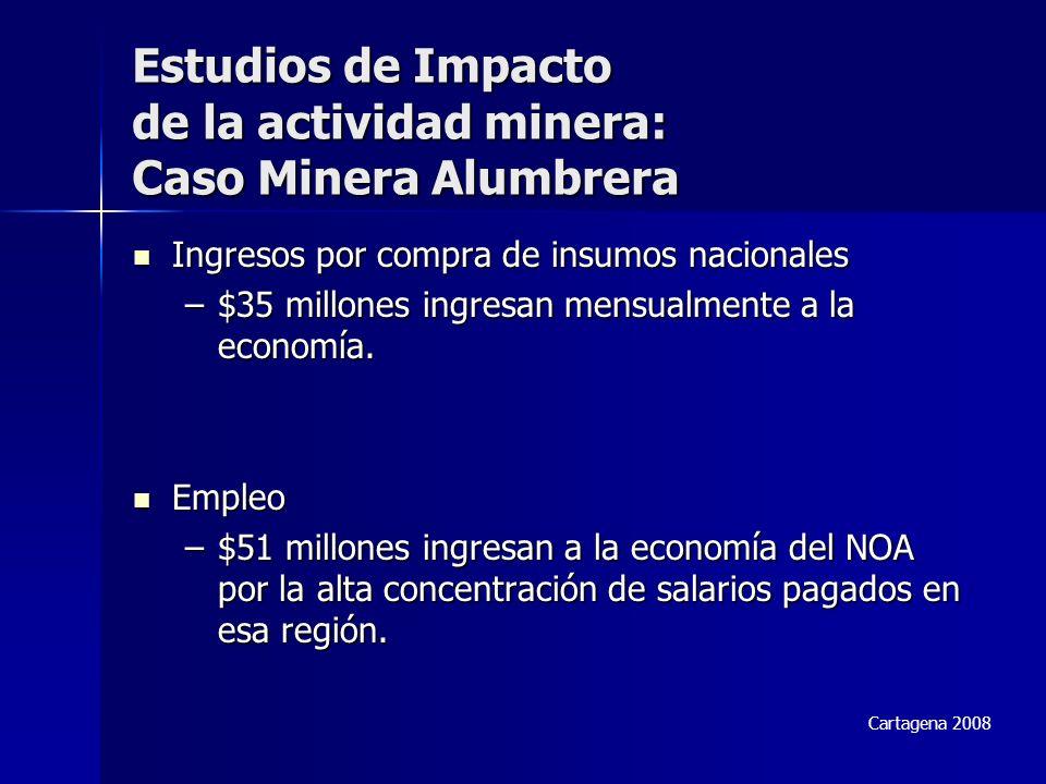 Ingresos por compra de insumos nacionales Ingresos por compra de insumos nacionales –$35 millones ingresan mensualmente a la economía.