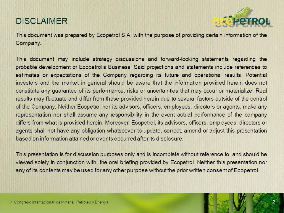 LACPEC 2009 Nuestra meta al 2015 - Consolidación organizacional 23 TALENTO HUMANO Entre las 10 mejores empresas para trabajar en Colombia 80% del personal con el 100% de las competencias requeridas 80% de líderes apropiados para la organización GESTIÓN DE ABASTECIMIENTO Confiabilidad de la cadena de abastecimiento: 94% Optimización de Costos 6% EXCELENCIA OPERACIONAL EXCELENCIA OPERACIONAL Accidentalidad 1,13 Incidentes ambientales: 32 Satisf.