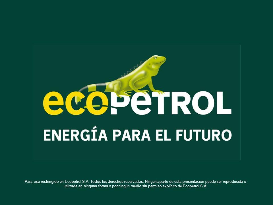 Para uso restringido en Ecopetrol S.A. Todos los derechos reservados. Ninguna parte de esta presentación puede ser reproducida o utilizada en ninguna