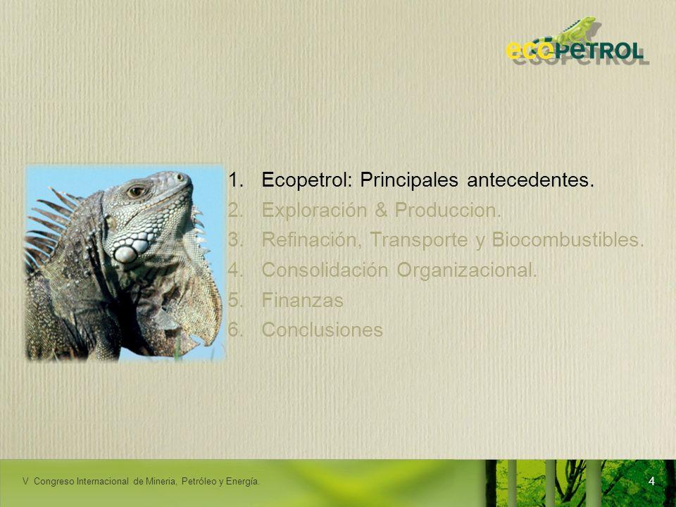 LACPEC 2009 25 Excelencia operacional: mejora permanente de indicadores Incidentes ambientales BPD Hurto de Refinados Atentados RENDICIÓN DE CUENTAS - ORITO V Congreso Internacional de Minería, Petróleo y Energía.