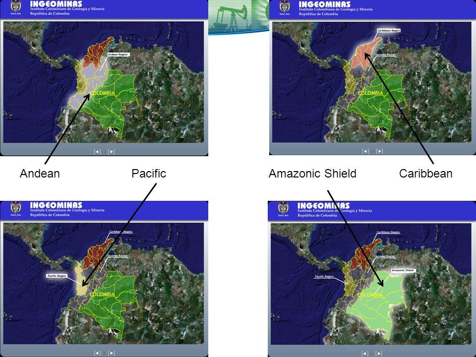 AndeanPacificAmazonic ShieldCaribbean