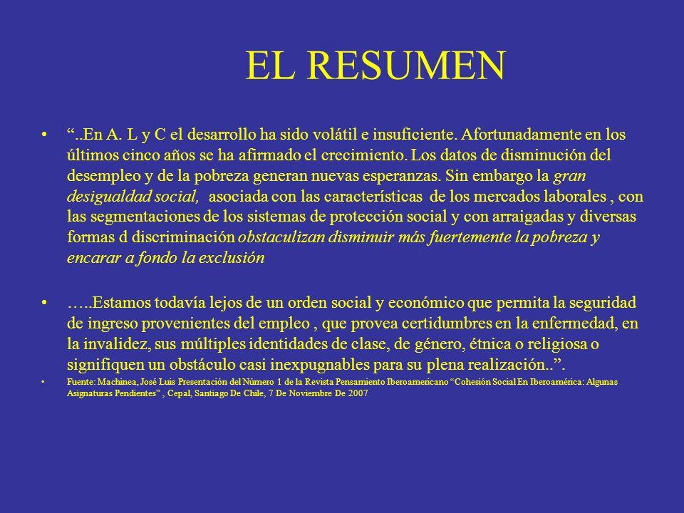EN MATERIA ENERGÉTICA Fuente:Anuaerio Estadístico,de A.L y C,Cepal 2007