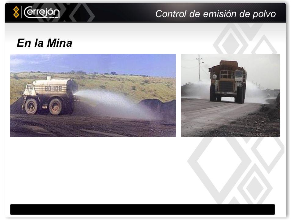Control de emisión de polvo Humectación y compactación Carbón compactado En el Tren