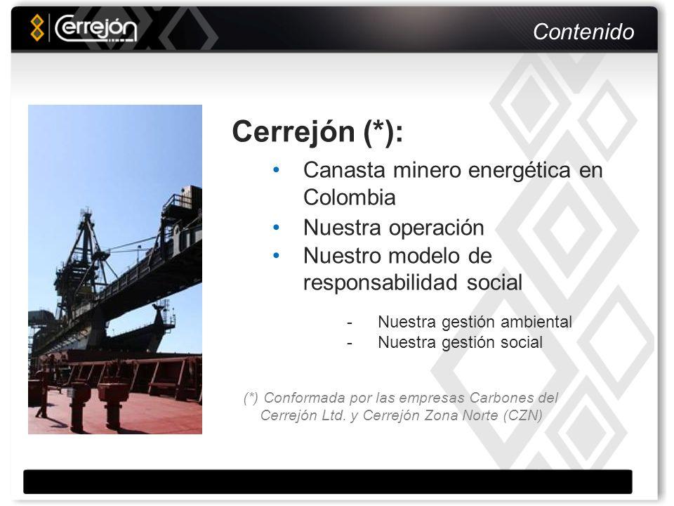 Estructura de Consumo Energético por Fuente Fuente: UPME En la canasta minero – energética colombiana el carbón mineral ha disminuido su participación