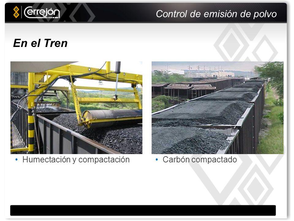 Control de emisión de polvo S/R Flume Cargue directo del carbón En el Puerto