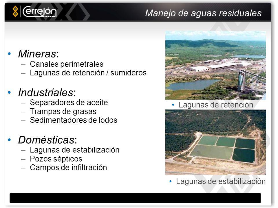 Programa de rehabilitación de tierras Remoción previa de suelo Readecuación de áreas minería Preparación de suelo en taludes y en terrenos planos