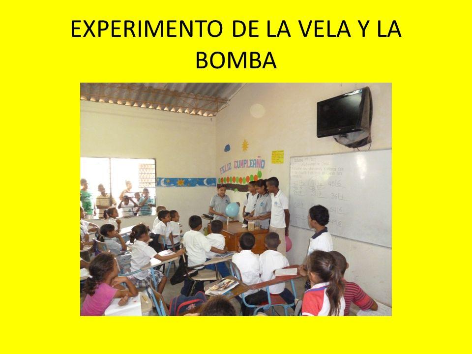 EXPERIMENTO DE LA VELA Y LA BOMBA