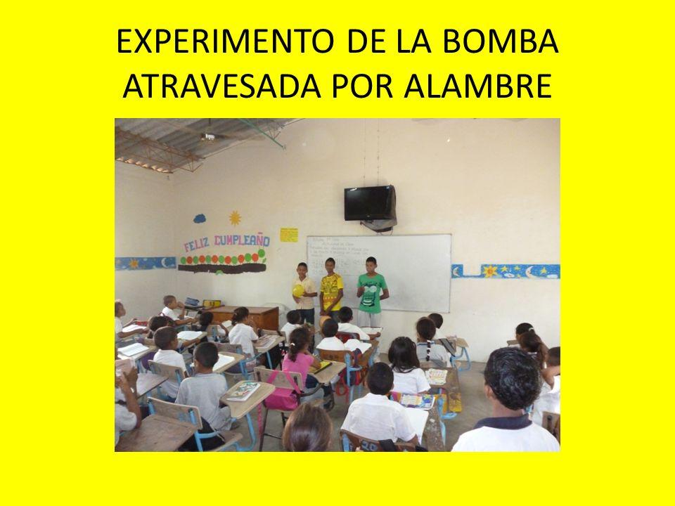 EXPERIMENTO DE LA BOMBA ATRAVESADA POR ALAMBRE