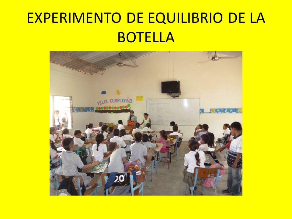 EXPERIMENTO DE EQUILIBRIO DE LA BOTELLA
