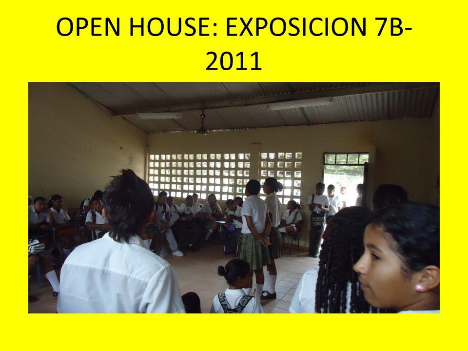 OPEN HOUSE: EXPOSICION 7B- 2011