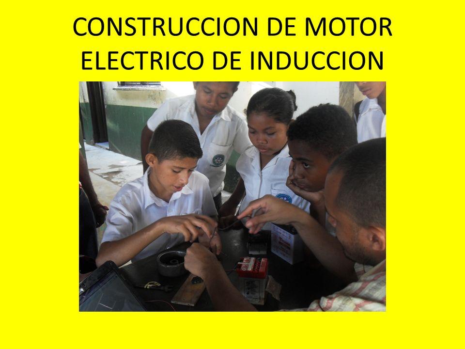 CONSTRUCCION DE MOTOR ELECTRICO DE INDUCCION