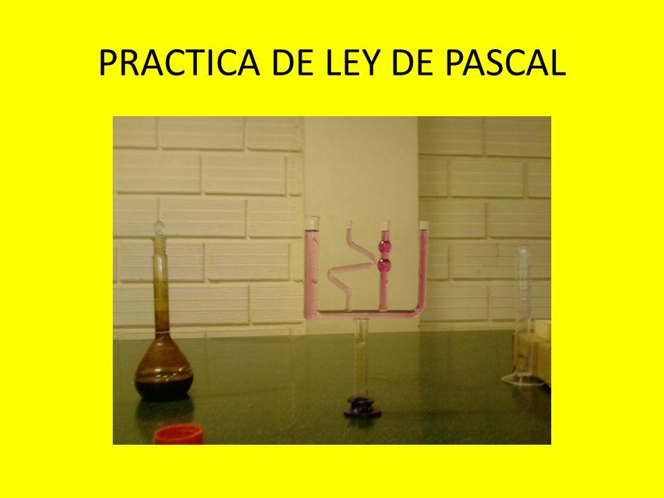 PRACTICA DE LEY DE PASCAL