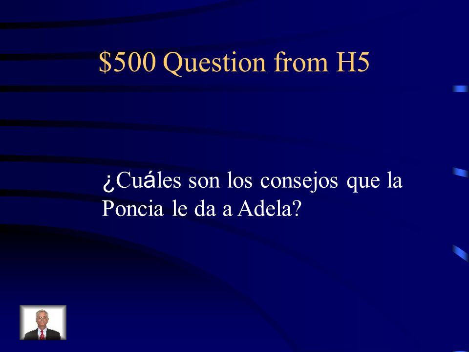 $400 Answer from H5 Porque le da un abanico rojo y verde