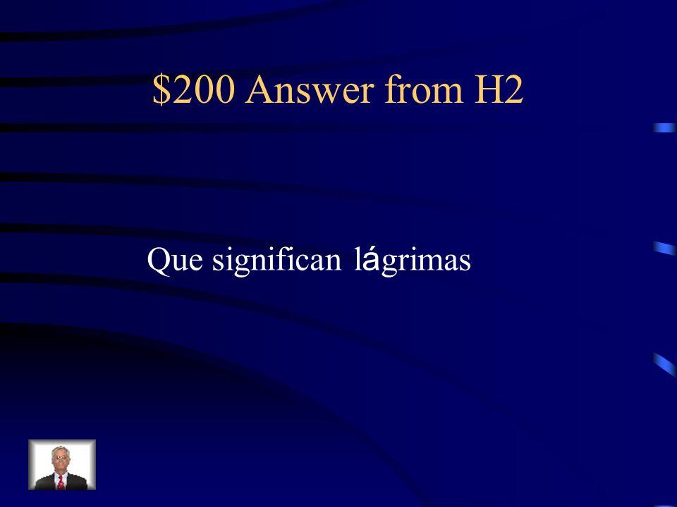 $200 Question from H2 ¿Qu é dice Prudencia sobre las perlas?
