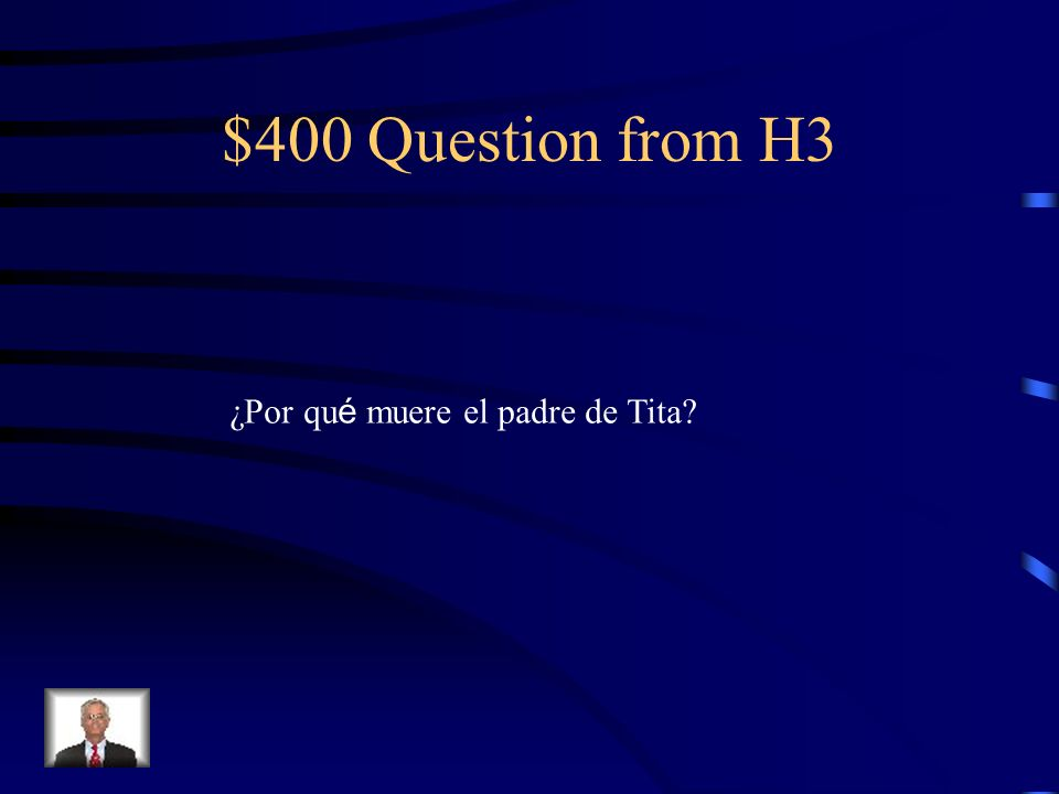 $300 Answer from H3 Esperanza