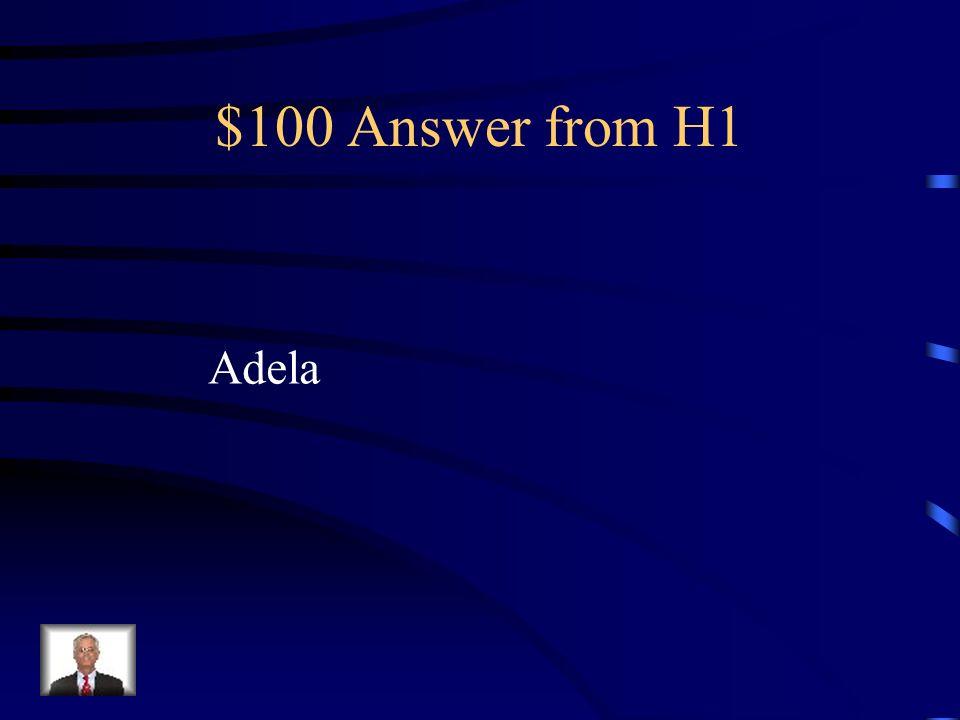 $100 Question from H1 La menor de las hijas; es la menos fea