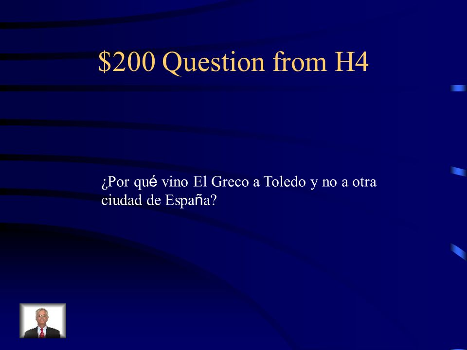 $100 Answer from H4 Vista de Toledo