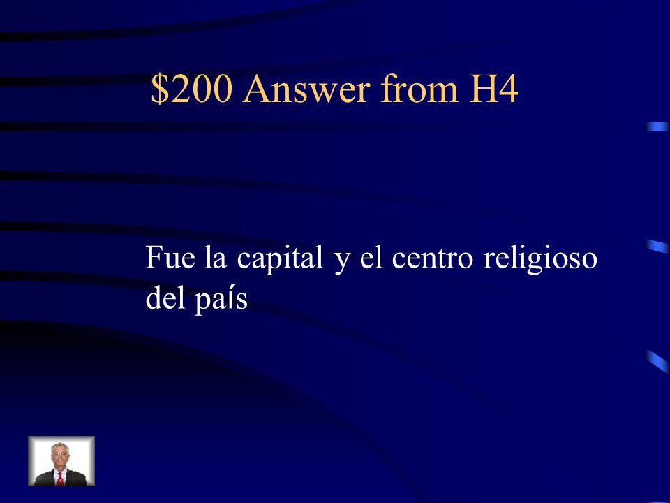 $200 Question from H4 ¿Por qu é vino El Greco a Toledo y no a otra ciudad de Espa ñ a?