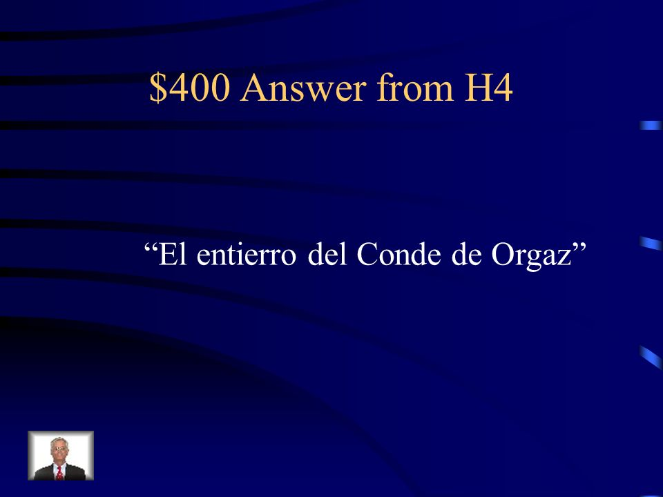 $400 Question from H4 ¿Cu á l es su obra maestra