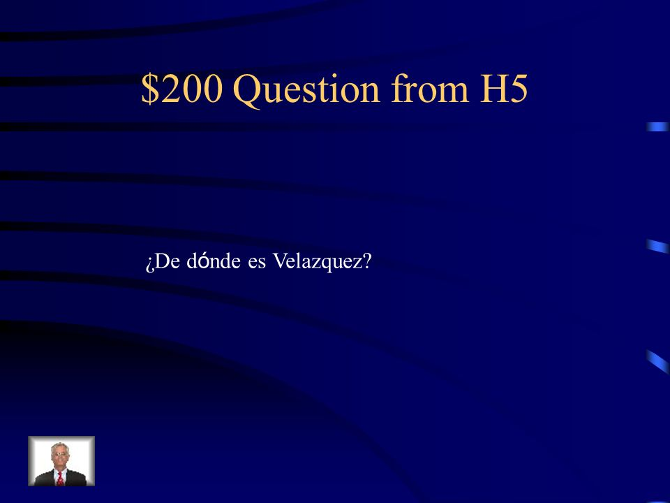 $100 Answer from H5 Las meninas