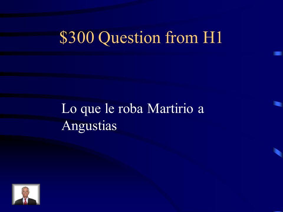 $200 Answer from H1 Su dinero