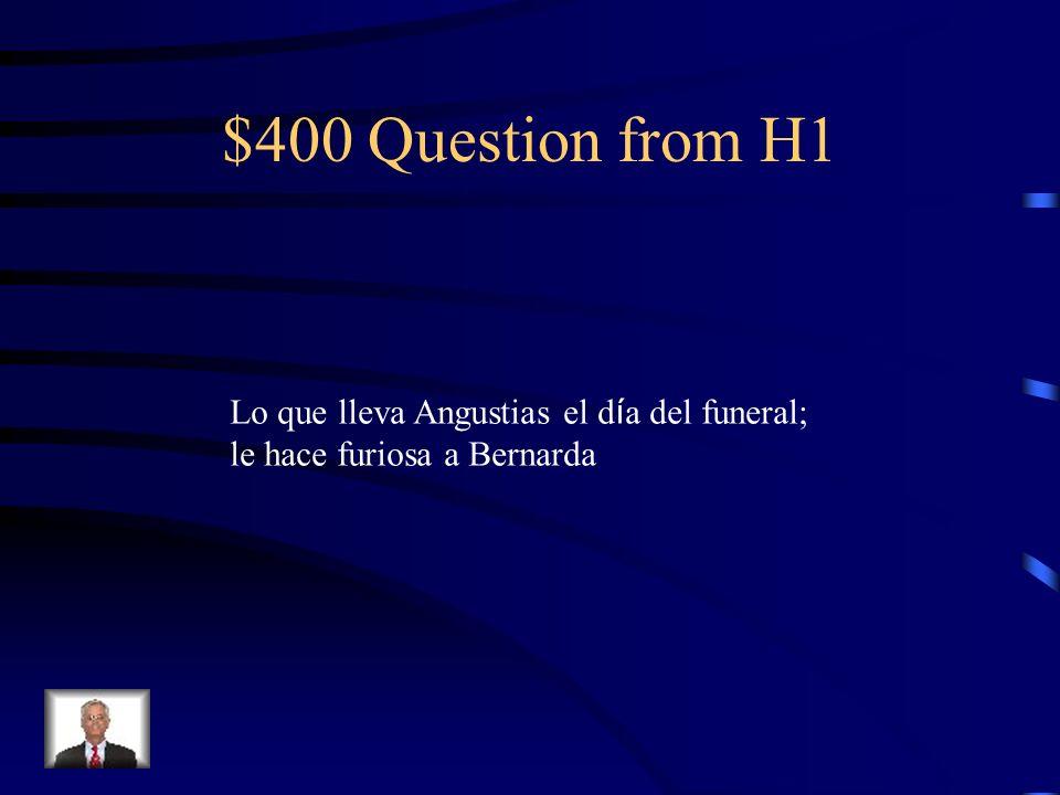 $300 Answer from H1 El retrato de Pepe el Romano