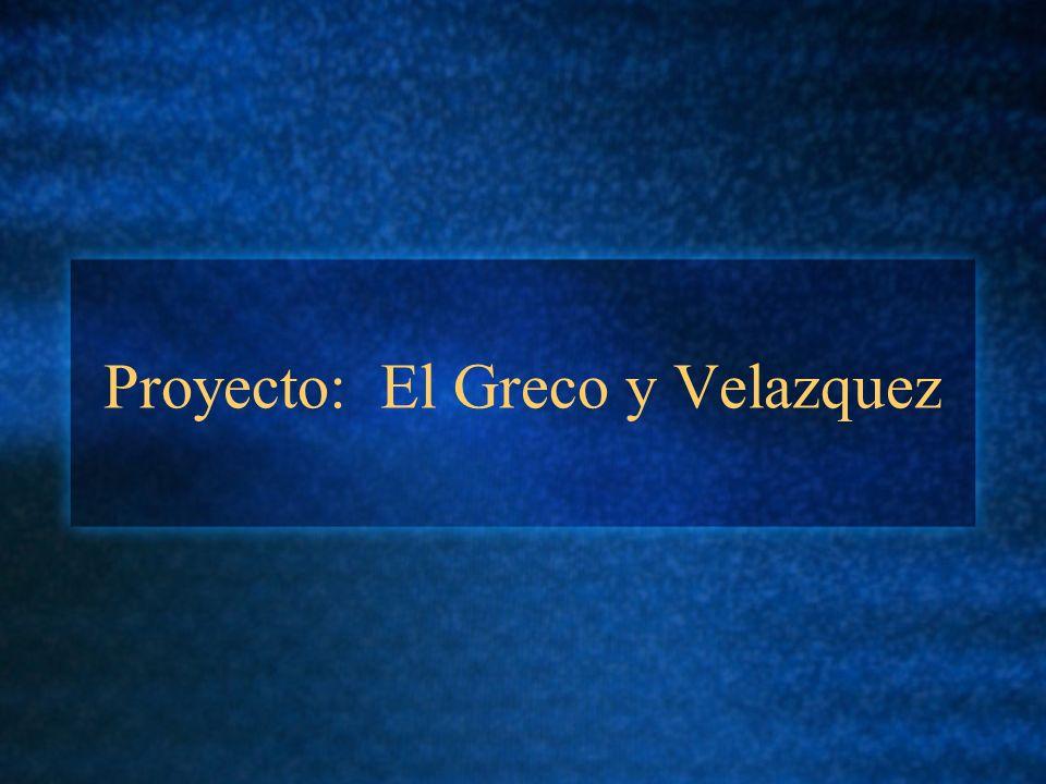 Proyecto: El Greco y Velazquez