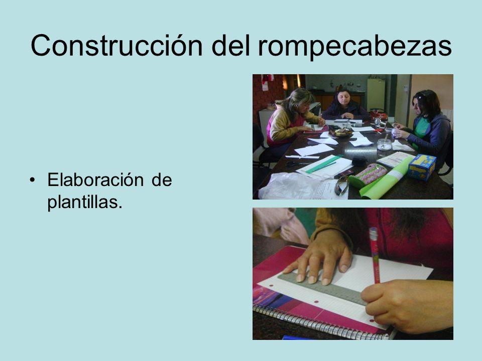 Construcción del rompecabezas Elaboración de plantillas.