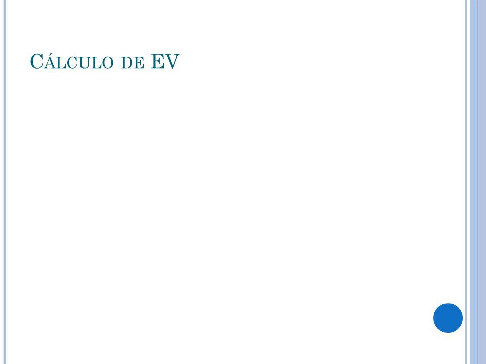 C ÁLCULO DE EV
