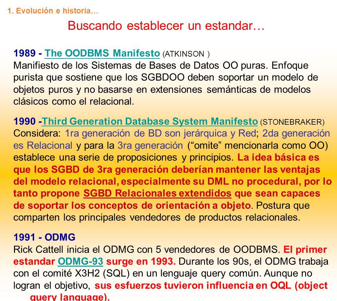 1995 - El Tercer Manifiesto (DARWEN y DATE) Es un documento más formal que los otros 2 manifiestos.