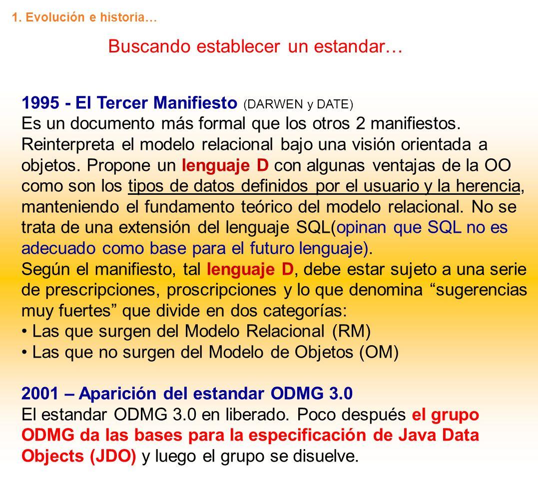 2004 – El Advenimiento del código abierto (Open Source) db4o es liberado como ODBMS de código abierto.