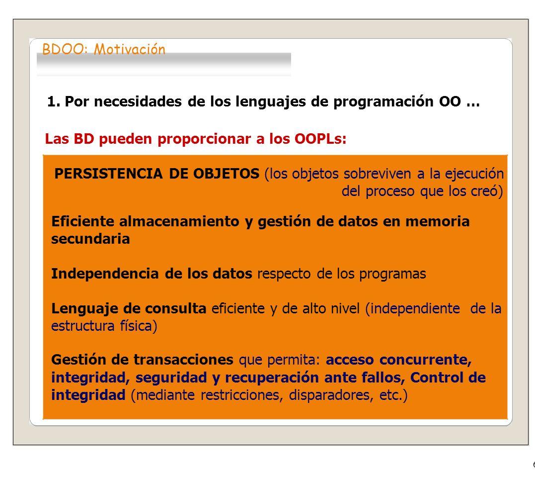 2.Las limitaciones de las BD relacionales...