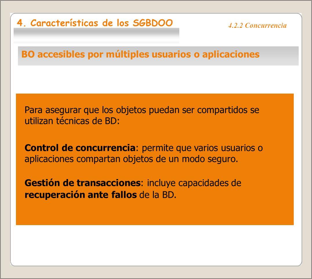 4.2.3 Procesamiento de consultas ad-hoc Técnicas para consultar objetos en una BDOO: Utilizando el propio LPOO para consultar a la BDOO.