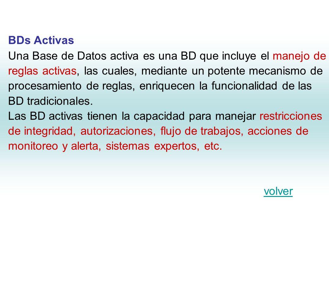 BDs Temporales Una Base de datos temporal es una BD que incorpora aspectos de tiempo.