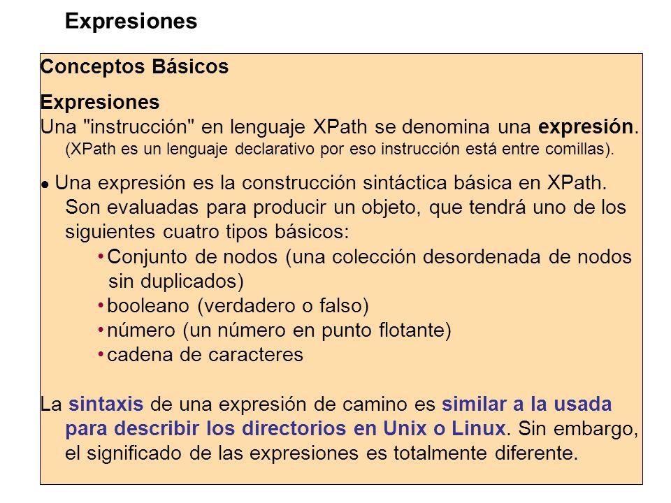 Conceptos Básicos Expresiones Una